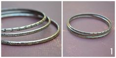 Vintage Silver Bangle Bracelets Set of Three by skyeshouse on Etsy, $4.00