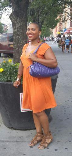 Orange w purple  07.2015 in Harlem,USA