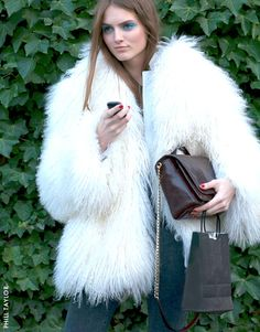Can't beat a shearling coat! Uber Glam
