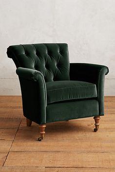 Velvet Gwinnette Chair #anthropologie