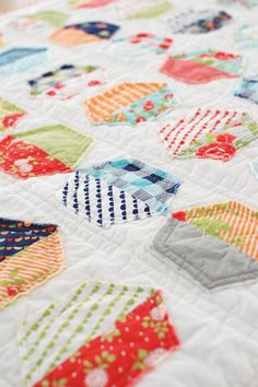 Cotton Way: raw edge, quilt as you go baby quilt pattern