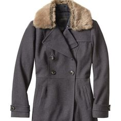 One Day Sale NWT Banana Republic fur trim coat Clearing out my winter stuff. Make an offer!! .  Gray wool coat with removable fur trim. Size small and new with tags. Too big for me. Four button close. Smoke free and pet free home. Banana Republic Jackets & Coats Trench Coats