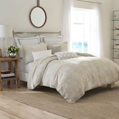 Nautica® Sandy Creek Duvet Cover in Beige - BedBathandBeyond.com