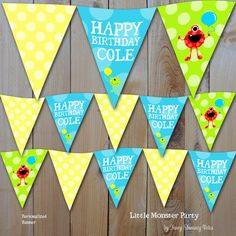 Little Monster Birthday Party Printable by fancyshmancynotes, $8.00