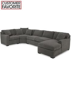 Genial Radley 4 Piece Fabric Modular Chaise Sectional   Sectional Sofas   Furniture    Macyu0027s