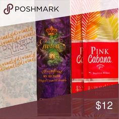 4 indoor tanning packets (2) Swedish Beauty pink cabana beachside bronze dark tanning lotion(retails for about $4.75 each). (1) Designer Skin Envious magnificent 19X bronzer (retails for about $11). and (1) Designer Skin divinely juicy hypoallergenic FACIAL intensifier (retails about $4)  Make an offer! 💓 designer skin Other