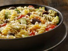 Görög tésztasaláta receptje - Recept | Femina Sample Menu, Fusilli, Mediterranean Diet, Best Diets, Meal Planning, Lunch, Meals, Snacks, Dinner