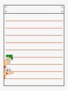 Phineas and Ferb Free Printable Notebook.