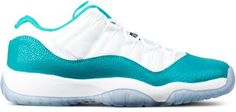 "Jordan Brand Air Jordan 11 ""Low Aqua"" GS Jordan 2016, Air Jordan 11 Low, Jordans Sneakers, Air Jordans, Hypebeast, Nike Free, Aqua, Shoes, Fashion"