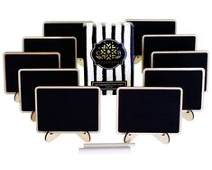 Mini Chalkboards Place Cards with Easel and Chalk for Weddings, Parties, Table…