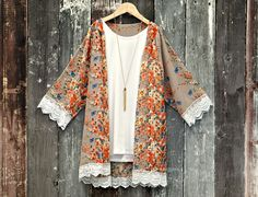 Ladies & Girls Floral Kimono:  an adorable Mommy & Me Fall look!  From $14.99 and FREE SHIPPING!