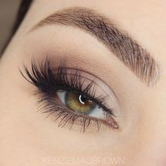 Check out  a really delicate/delicate smokey eye utilizing solely nude colors. The eyelashes used aren&#...
