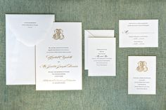 Kendall and Justin's Wedding Invitations on Carats & Cake!