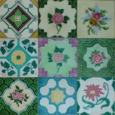Peranakan tiles, gorgeous. IDEA - Apply to chocolate graphic design (beside this pic) for packaging design...? ---}