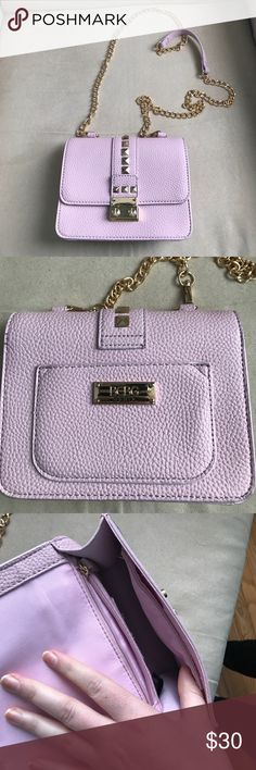 Lavender BCBG crossbody bag Great condition! I bought on here and ended up not using it. My loss your gain! BCBG Bags Crossbody Bags