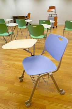 Rhombus Tablet Arm Chair, great colors!