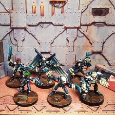 I found this on Flickr these are vintage Necromunda Spryers, basically spoiled rich kids who find in the Underhive for fun. I'm not sure they are back in he game yet, and pinning from Flickr didn't let me enter a description at first.