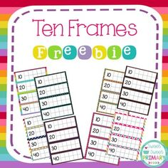 FREE Practice counting by ones and tens with this ten frame FREEBIE! There are 8 color choices included in this pack. Each set has ten frames to 200 plus a blank set of ten frames. Colors included: rainbow stripes, three colors of chevron, chalkboard, denim, colorful arrows, and pink polka dots.