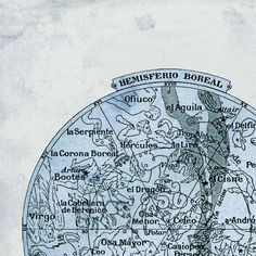 Celestial Map  Constellations of the Northern by TheCuratorsPrints, $22.00