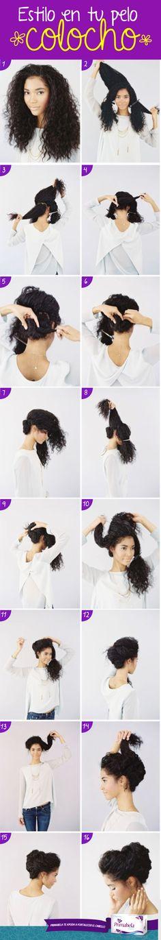 Tu pelo rizado lucirá espectacular luego de este tutorial.  #HairStyle #Curly #Black #Primabela