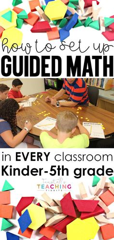 Setting Up Guided Math Grade - Tunstall's Teaching Tidbits Second Grade Math, First Grade Classroom, Math Classroom, Kindergarten Math, Teaching Math, Fourth Grade, Teaching Ideas, Classroom Ideas, Teaching Time