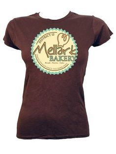 Mellark Bakery Ladies Brown T-Shirt - Inspired by The Hunger Games