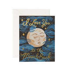 To the Moon and Back Available as a Single Folded Card or Boxed Set of 8 greeting card  #greetingcard #love #family
