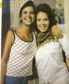 Dos grandes actrices Venezolanas :Hilda Vera y Mayra Alejandra en la telenovela La Hija de Juana Crespo de RCTV,años 70s