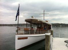 The restored Polaris raising money for the Geneva Lake Conservancy at the Gage Marine Boat Show Bash.