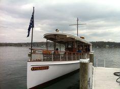 The restored Polaris raising money for the Geneva Lake Conservancy at the Gage Marine Boat Show Bash.