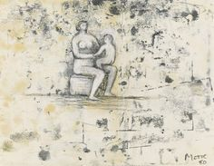 thunderstruck9:  Henry Moore (British, 1898-1986), Seated Mother and Child, 1980. Gouache, watercolour, black crayon and charcoal on paper, 22.6 x 28.5 cm.