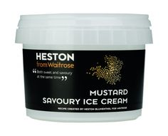 Heston Blumenthal's mustard ice cream for Waitrose - bonkers but probably delicious!