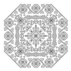 This page is full of gorgeous (and inexpensive) blackwork patterns! Feng Shui