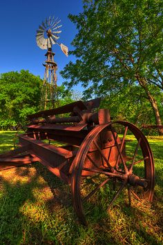 Old Farm This was taken at the Penn Farm area of Cedar Hills State Park in Texas. Old WindmillThis was taken at the Penn Farm area of Cedar Hills State Park in Texas. Old Windmill Country Barns, Old Barns, Country Life, Country Living, Country Roads, Country Charm, Country Style, Old Windmills, Old Farm Equipment