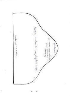 Molde do puxa saco de vaquinha