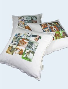 3 Types Dogs & cats print # Cotton Cushion Cover (Custom Cushion, Decorative Pillows, Pillow Case, Personalized cushion, Made in Canada) by MysGreenCom on Etsy
