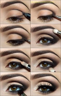 Using only eye liner!
