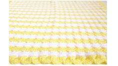 Yellow Baby Blanket Crochet Baby Blanket by CraftCreationsbyRose