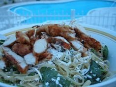 One Little Corner of the World: Mizithra Cheese, Spinach, and Magic Rub Chicken Pasta