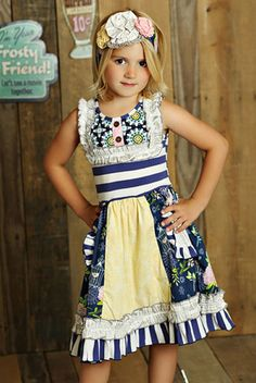 Mustard Pie Secret Garden Scrappy Ramona Dress PREORDER