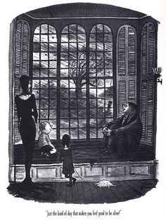The Addams Family by Charles Addams---'Just the kind of day that makes you feel good to be alive! The Addams Family, Adams Family, Addams Family Cartoon, Los Addams, Charles Addams, Morticia Addams, The Munsters, Fandoms, Fanart