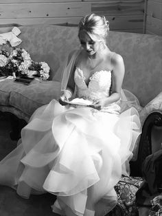 Love letters between the bride and groom to be read before the ceremony. Lake of the Ozarks Bride and Groom. Love Letters, One Shoulder Wedding Dress, Groom, Weddings, Bride, Wedding Dresses, Fashion, Cartas De Amor, Bridal Dresses