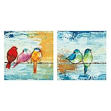 image of Song Birds Canvas Wall Art (Set of 2)