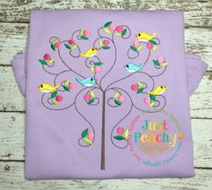 Spring Swirly Tree Embroidery Design