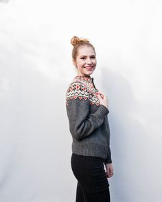 Vintage Sweater - Norwegian Hand Knit Grey Red Cardigan - Medium / Large on Etsy, kr Red Cardigan, Hand Knitted Sweaters, Vintage Sweaters, Crotchet, Hand Knitting, Knits, Christmas Sweaters, High Fashion, Cardigans