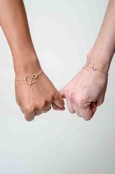 BFF set ampersand rose gold bracelets by makepienotwar on Etsy, $60.00 @Alison W Abukhdeir