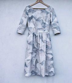 Groovybaby .... and mama: Nani IRO month - a Clutch and an Emery - Nani Iro - Mountain Views fabric - dress is Emery Dress