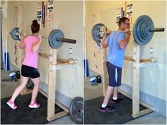 DIY squat rack and pull-up bar  #crossfit #garagegym #diy