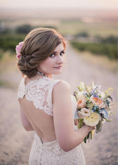 Look at the back on this beauty!!!    Hair and Make-up by Steph  Alixann Loosle Photography  blog.hairandmakeupbysteph.com