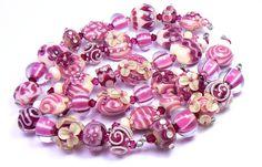 Brandy - handmade lampwork glass beads by artist Kandice Seeber